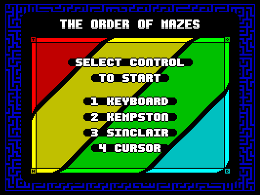 The Order of Mazes - Title Screen